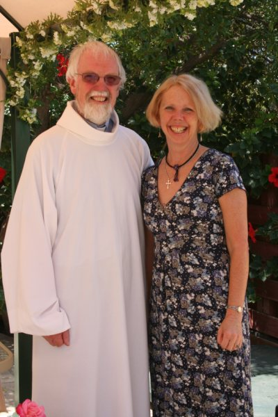 Canon Derek Smith and his wife Sue