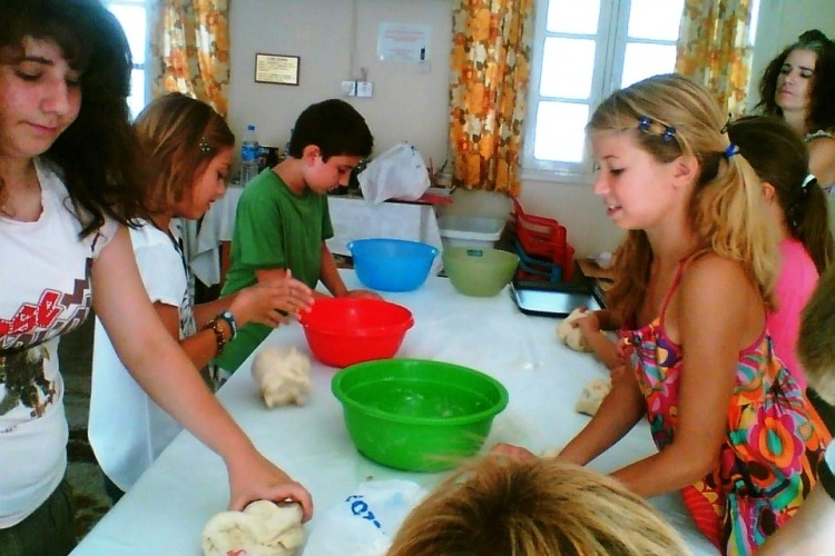 Our children and young people breadmaking for the Harvest Festival